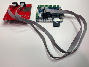 GLCD Adapter Connected to LaserBoard