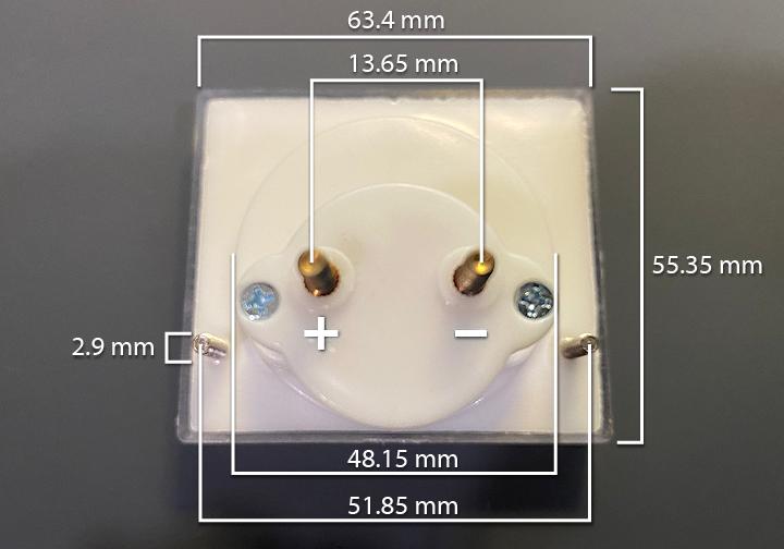 mA Meter Dimensions